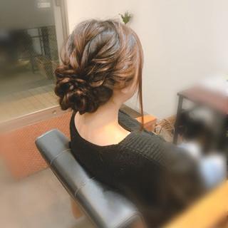 ロング フェミニン アップスタイル アップ ヘアスタイルや髪型の写真・画像