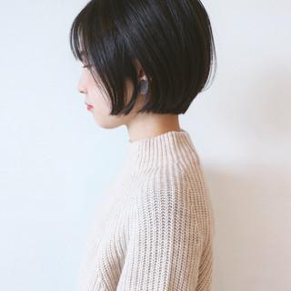 ミニボブ 黒髪 ベリーショート ショートヘア ヘアスタイルや髪型の写真・画像