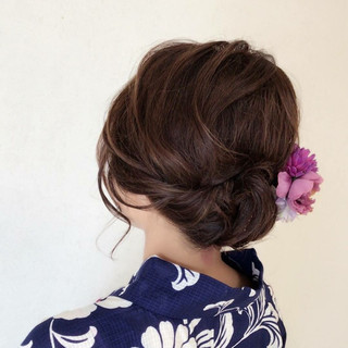上品 デート ヘアアレンジ 結婚式 ヘアスタイルや髪型の写真・画像