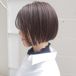グレージュ オフィス ナチュラル 透明感 ヘアスタイルや髪型の写真・画像