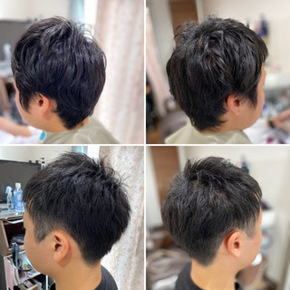 ショートボブ ショートヘア ナチュラル ツーブロック ヘアスタイルや髪型の写真・画像