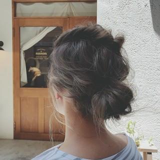 ナチュラル ゆるふわ デート 涼しげ ヘアスタイルや髪型の写真・画像
