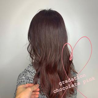 ショコラブラウン レイヤー デート TOKIOトリートメント ヘアスタイルや髪型の写真・画像