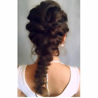 ウェットヘア ストリート ウェーブ モード ヘアスタイルや髪型の写真・画像