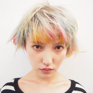 ハイライト ストリート 外国人風 ブリーチ ヘアスタイルや髪型の写真・画像