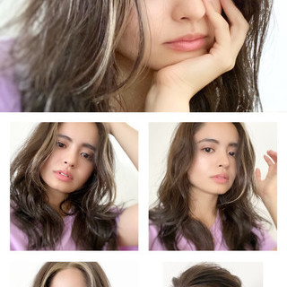 グレージュ かき上げ前髪 ナチュラル イルミナカラー ヘアスタイルや髪型の写真・画像