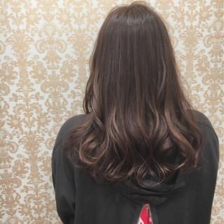 外国人風 大人かわいい ニュアンス セミロング ヘアスタイルや髪型の写真・画像
