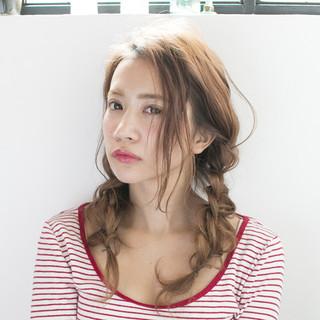 セミロング 透明感 簡単ヘアアレンジ 外国人風 ヘアスタイルや髪型の写真・画像