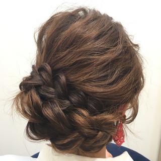 ロング ヘアアレンジ 三つ編み ショート ヘアスタイルや髪型の写真・画像