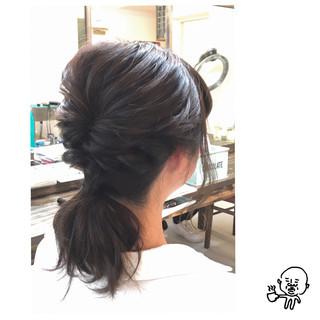 ヘアアレンジ セミロング 簡単 簡単ヘアアレンジ ヘアスタイルや髪型の写真・画像