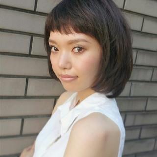 前髪あり 似合わせ 外国人風 ショート ヘアスタイルや髪型の写真・画像