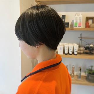 マッシュショート ハンサムショート ショートヘア ベリーショート ヘアスタイルや髪型の写真・画像