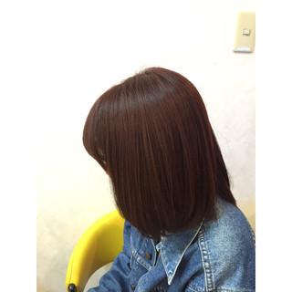 ボブ ガーリー 春 大人女子 ヘアスタイルや髪型の写真・画像