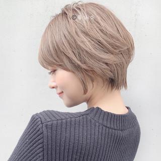 ミニボブ ショートヘア ナチュラル ショートボブ ヘアスタイルや髪型の写真・画像