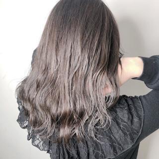 透明感 フェミニン ミディアム トレンド ヘアスタイルや髪型の写真・画像