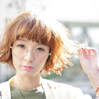 くせ毛風 外ハネ 外国人風 ガーリー ヘアスタイルや髪型の写真・画像