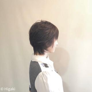 イメチェン ショート ゆるナチュラル ナチュラル ヘアスタイルや髪型の写真・画像