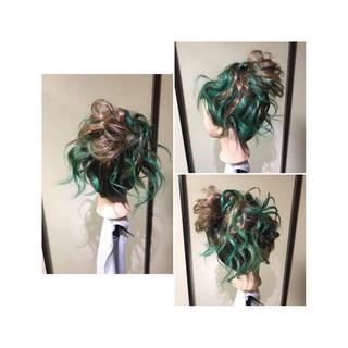 ヘアアレンジ ゆるふわ 編み込み コンサバ ヘアスタイルや髪型の写真・画像