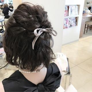 ヘアアレンジ 簡単ヘアアレンジ 大人女子 暗髪 ヘアスタイルや髪型の写真・画像