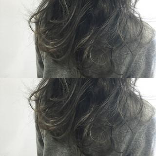 ナチュラル 黒髪 ニュアンス 小顔 ヘアスタイルや髪型の写真・画像