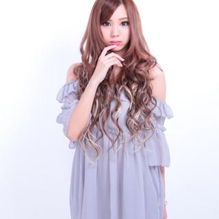 外国人風 ロング 渋谷系 モテ髪 ヘアスタイルや髪型の写真・画像