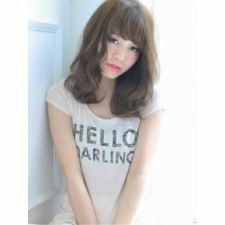 ゆるふわ モテ髪 ナチュラル 大人かわいい ヘアスタイルや髪型の写真・画像
