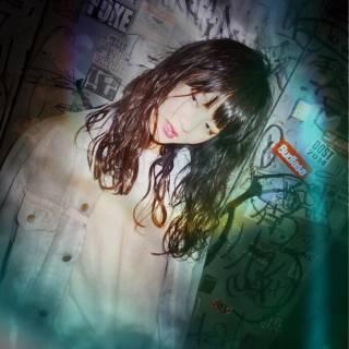 ウェーブ ストリート 暗髪 セミロング ヘアスタイルや髪型の写真・画像