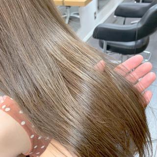 髪質改善カラー ナチュラル ツヤ髪 髪質改善トリートメント ヘアスタイルや髪型の写真・画像