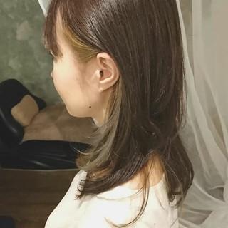 ゆるふわ ミディアム デート オフィス ヘアスタイルや髪型の写真・画像