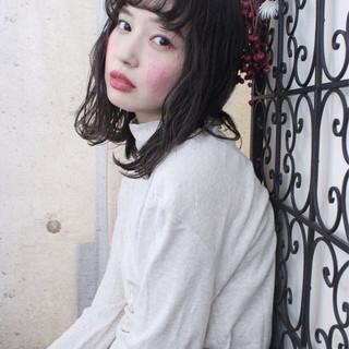 ナチュラル 透明感 秋 ニュアンス ヘアスタイルや髪型の写真・画像