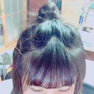 前髪あり 簡単ヘアアレンジ ショート ヘアアレンジ ヘアスタイルや髪型の写真・画像