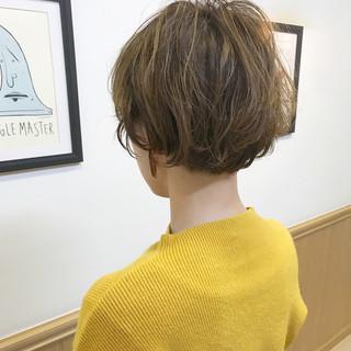 アンニュイ ナチュラル ショート パーマ ヘアスタイルや髪型の写真・画像