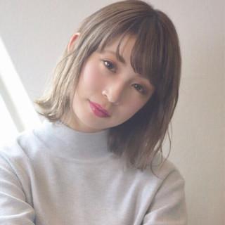 ヘアアレンジ アウトドア フェミニン ボブ ヘアスタイルや髪型の写真・画像