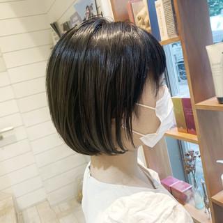 ハイライト ショートボブ ナチュラル ショートヘア ヘアスタイルや髪型の写真・画像