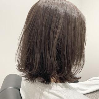 切りっぱなしボブ 大人かわいい くびれボブ デート ヘアスタイルや髪型の写真・画像