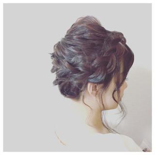 夏 結婚式 お祭り フェミニン ヘアスタイルや髪型の写真・画像