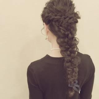 ヘアアレンジ 編み込み 結婚式 コンサバ ヘアスタイルや髪型の写真・画像