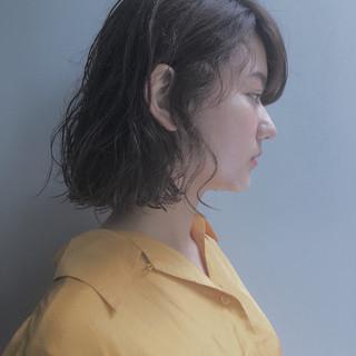 ボブ 女子会 パーマ フェミニン ヘアスタイルや髪型の写真・画像