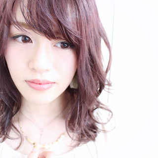 ラベンダーピンク ガーリー ピンク ベリーピンク ヘアスタイルや髪型の写真・画像