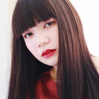 小松菜奈 前髪あり ナチュラル ロング ヘアスタイルや髪型の写真・画像