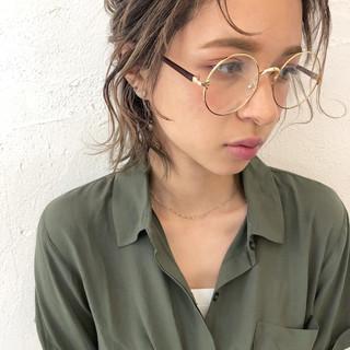 アンニュイ ショート ナチュラル ヘアアレンジ ヘアスタイルや髪型の写真・画像