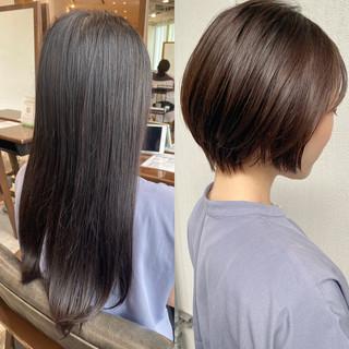マッシュショート ショートボブ ショートヘア ナチュラル ヘアスタイルや髪型の写真・画像