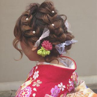 アップスタイル ロング ゆるふわ 成人式 ヘアスタイルや髪型の写真・画像