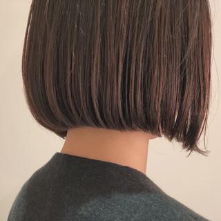 縮毛矯正 ナチュラル ストレート ショートボブ ヘアスタイルや髪型の写真・画像