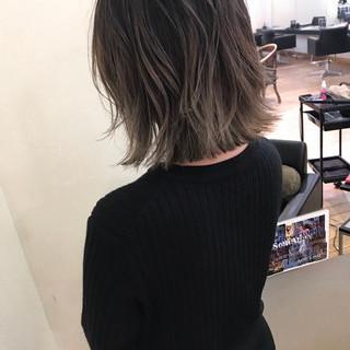 ハイライト ボブ フェミニン エフォートレス ヘアスタイルや髪型の写真・画像