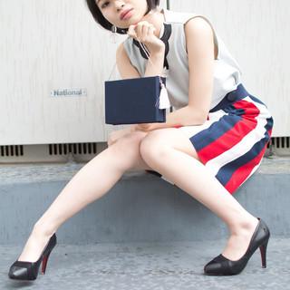 ショート オフィス 女子力 女子会 ヘアスタイルや髪型の写真・画像
