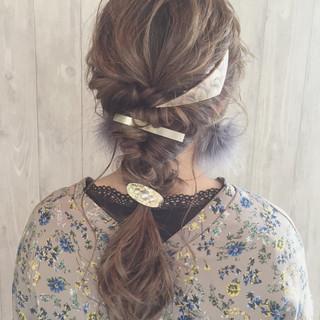 ショート 女子会 ナチュラル 簡単ヘアアレンジ ヘアスタイルや髪型の写真・画像