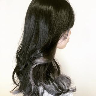 ロング デート グレージュ ブルージュ ヘアスタイルや髪型の写真・画像