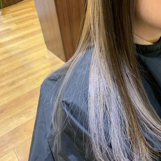 モード ロング インナーカラー 外国人風カラー ヘアスタイルや髪型の写真・画像