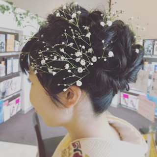 ヘアアレンジ フェミニン 謝恩会 ロング ヘアスタイルや髪型の写真・画像